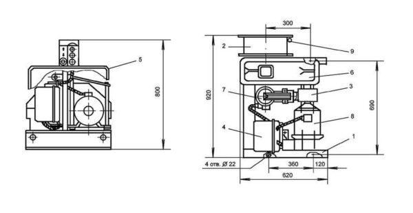 Лебедка электрическая монтажная ТЛ-14А